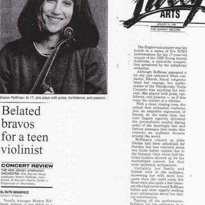 Bergen Record, January 14, 1996
