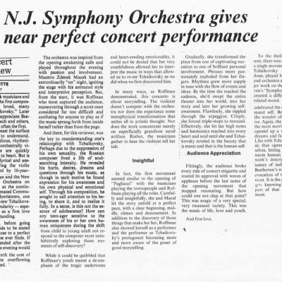NJ Symphony Orchestra Review